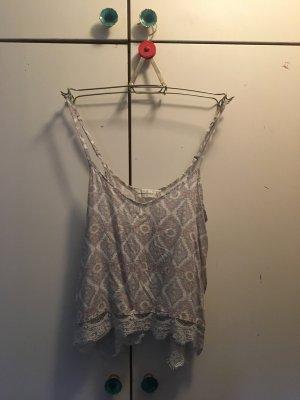 Vintage Bluse mit Spitzensaum von Zara