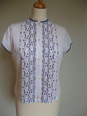 Vintage Bluse mit Stickerei
