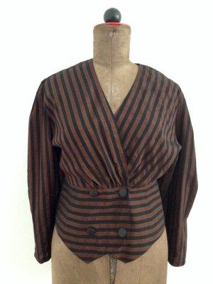 Vintage Bluse mit Streifen, Gr. 38/40