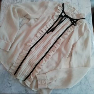 Vero Moda Ruche blouse veelkleurig Polyester