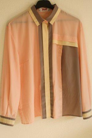 Vintage Bluse von Yarell in Pastelltönen lila , rose, oversize tragbar gr. 38-42