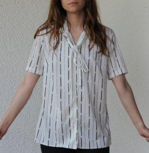 Vintage Bluse weiß Streifen 20er 50er