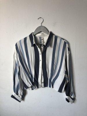 Vintage Bluse Zara blau gestreift