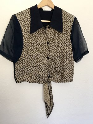 Vintage Wraparound Blouse dark blue-cream
