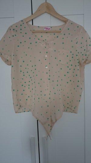 Vintage Bluse zum Binden