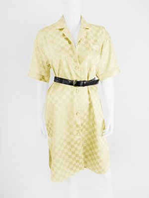 Vintage Blusenkleid mit Karo-Muster 36/38