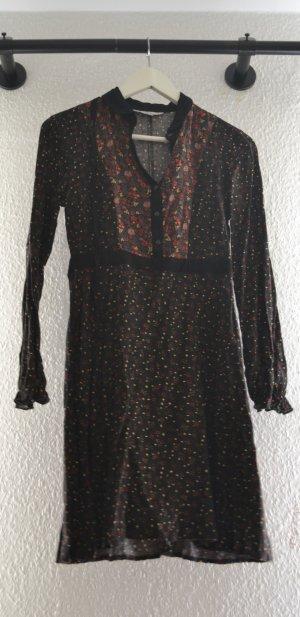 Vintage Bohemian Kleid mit Knopfleiste und Blümchenmuster 70s 70er Florence Welch