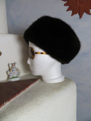 Vintage Boho Braun Kunstpelz Mütze collins-hats.at Fluffy Fake Fur Hut Onesize