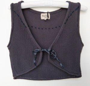 Noa Noa Boléro en tricot gris anthracite coton