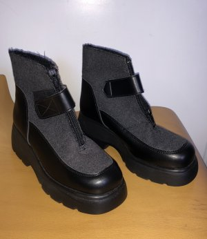 Ankle Boots black-grey