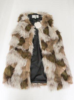 Vintage Boutique angesagte Fake fur Fell Luxus long Weste Patchwork stil Neu