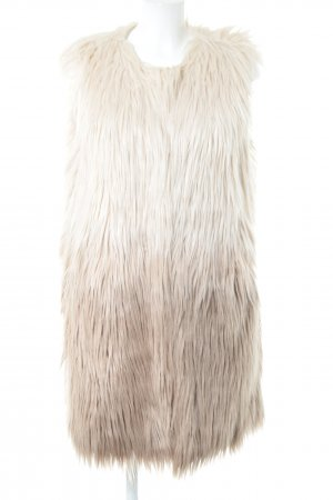 Vintage Boutique Collection Fur vest cream color gradient extravagant style