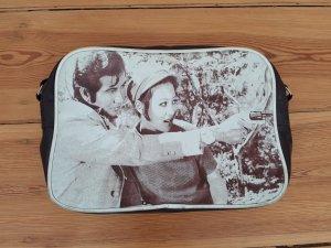 VINTAGE Bowling Tasche mit Print, retro