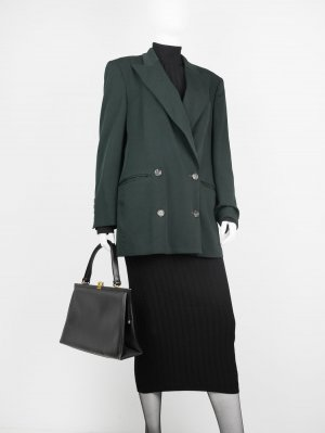 Boyfriend Blazer dark green new wool
