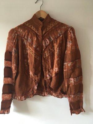 Vintage Braune Bluse