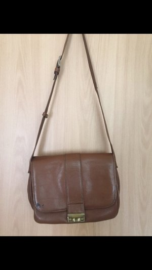 Vintage Crossbody bag brown-gold-colored