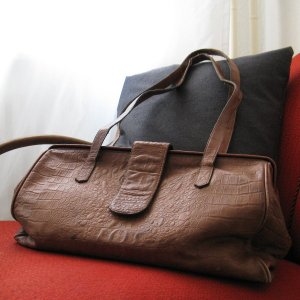 Shopper multicolored leather