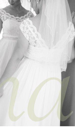Vintage Brautkleid Hochzeitskleid aus Spitze, bodenlang