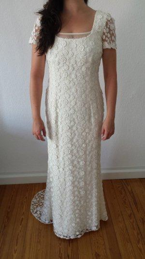 Vintage Brautkleid mit besonderer Spitze 38/40