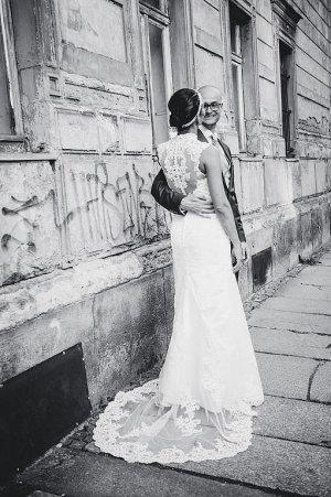 Robe de mariée blanc cassé polyester