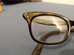 Vintage Occhiale nero-oro