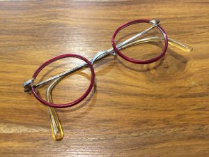 Vintage Bril bordeaux