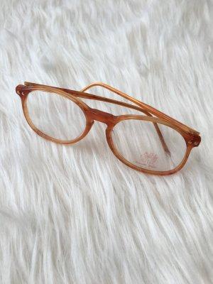 Vintage Brille • Brillengestell orange braun