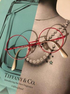 Vintage Brillengestell pink Perlmutt