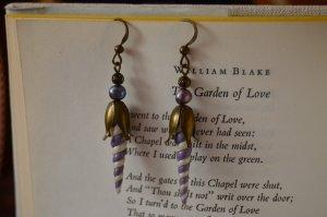 Dangle bronze-colored-purple