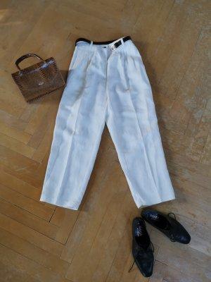 Vintage Pantalón de lino blanco