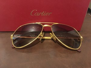Cartier Aviator Glasses silver-colored-gold-colored metal