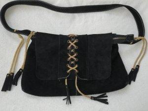Cavalli Fringed Bag sand brown-brown leather