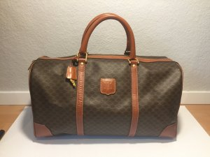 Celine Weekender Bag black brown-cognac-coloured
