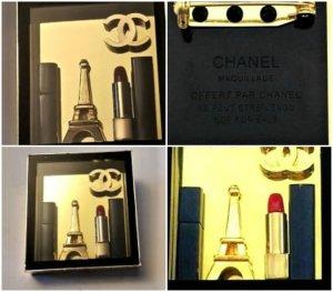 Chanel Broche multicolore tissu mixte