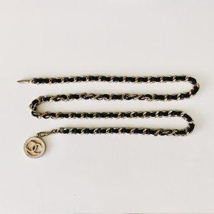 Chanel Cinturón de cadena color oro-negro