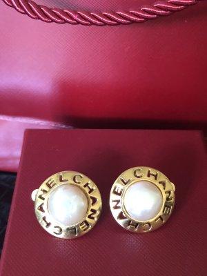 Vintage Chanel Ohrringe Ohrstecker Schmuck Ohrclip Perlen