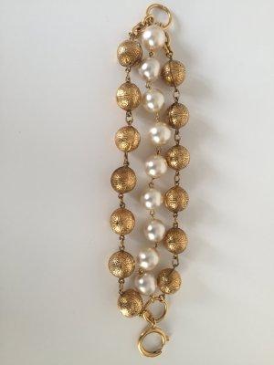 Chanel Bracciale di perle bianco-oro