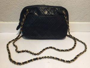 Chanel Borsetta oro-blu scuro Pelle