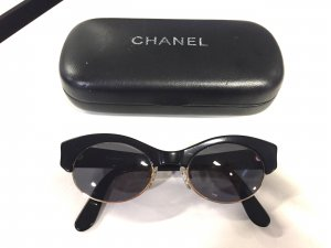 Chanel Gafas de sol negro-color oro