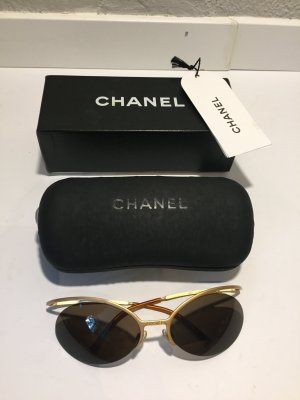 Chanel Gafas de sol color oro metal