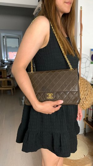 Chanel Bolsa de hombro marrón