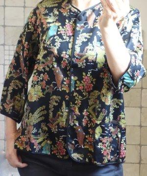 Vintage Kimono blouse veelkleurig Synthetische vezel