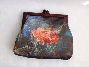 Vintage Clip Tasche mit Fragonard Motiv romantisch Watteau