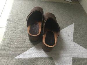 Vintage Clogs Braun Größe 37