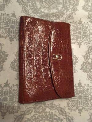 Bolso de mano marrón-coñac