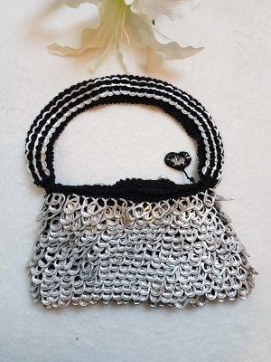Clutch zwart-zilver