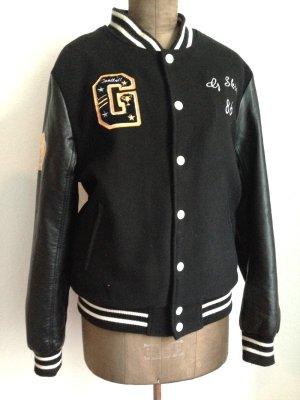 Vintage College Jacke mit Wolle, Gr. M (passt Gr. 40/42)