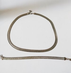 Collier Necklace light grey-silver-colored