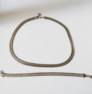 Collier lichtgrijs-zilver