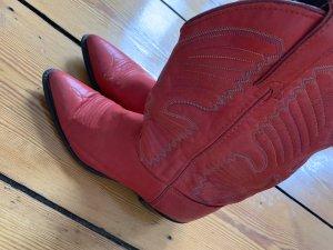 Western laarsjes rood Leer